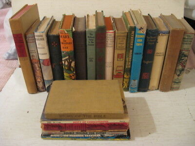LOT: 24 VINTAGE CHILDRENS NOVELS Action Adventure Mystery Historical; 18HC 6 SC