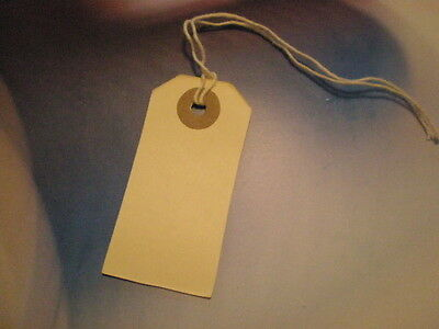 "100 Manila Tags with String and Reinforced Eye  Size 1   1-3/8"" x 2-3/4"""