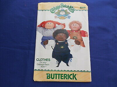 Vintage Butterick Cabbage Patch Pattern 1984 #6508 With Applique Transfers