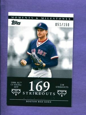 2007 Topps Moments & Milestones Roger Clemens #'d 051/150 Red Sox NM/MT