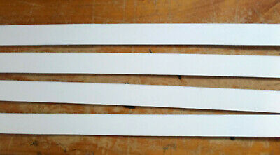 4 x 29mm wide x 2.5mm thick x 1.8 to 2Metres long White leather strips