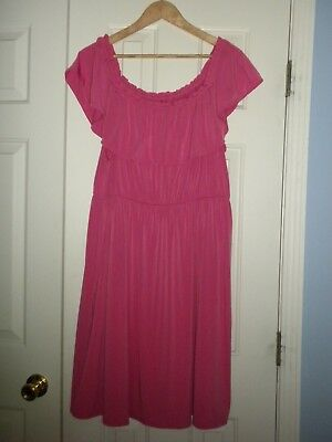 85b8dfdea64 Women s 18 20 Lane Bryant Dress Pink Cap Sleeve or Off The Shoulder knee  length