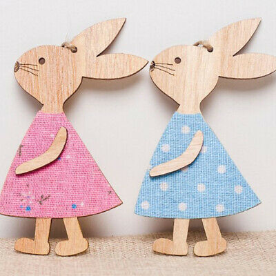 Rustic Wooden Boy Bunny Rabbit Carrot Hanging Mobile Easter