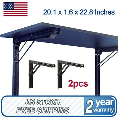 "HEAVY DUTY 2Pack 24"" Wall Mounted Folding Shelf Brackets Workbench Support 250lb"