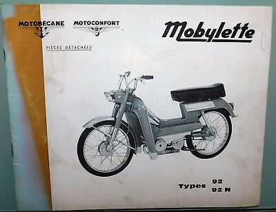 Ancien Catalogue Pieces Detachees 1972 Mobylette Motoconfort Motobecane 92 - 92N