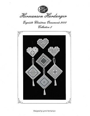 Hermanson Hardanger Exquisite Christmas Ornaments 2000 # 5 Cross Stitch Pattern