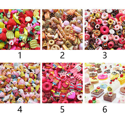 Charms Mixed Slime Beads DIY Candy Flatbacks Resin Scrapbooking Crafts Colorful