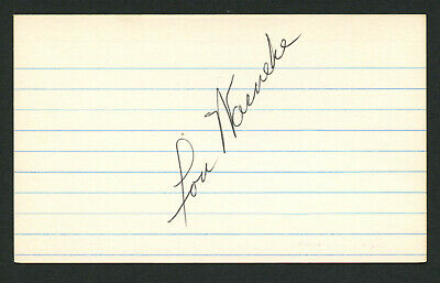 Lou Warneke (d. 1976) signed autograph Baseball 3x5 Index Card 6031-03