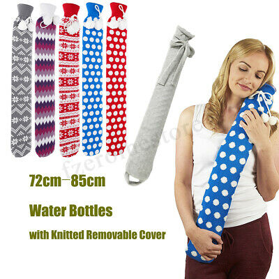 Warmies Flannel PVC Extra Long Hot Water Bottles 73cm x 12cm (Approx) 5 Colours