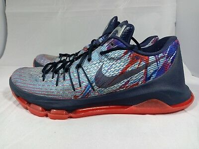 c15efb93d76 Nike KD 8 USA Independence Day Men s Basketball Shoes 749375-446 Size 9.5