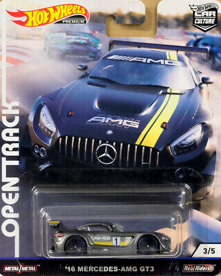 '16 Mercedes-Benz AMG GT3 Open Track 3/5 Car Culture 1:64 Hot Wheels FYN62 FPY86