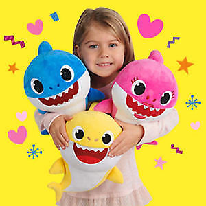 Baby Shark Plush Singing Plush Toys Music Doll English Song Toy free shipping