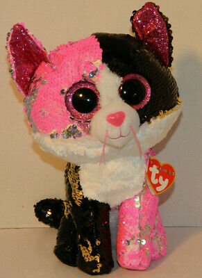 4c2f940fddc NWT Ty FLIPPABLE Malibu The Cat Sequins Med 10