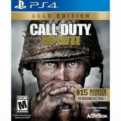 PS4 Call of Duty WWII WW2 GOLD EDTION NEW Sealed REGION FREE World War Two