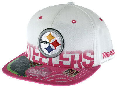 Reebok NFL Football Pittsburgh Steelers Women's Cap Hat Donate for Breast Cancer