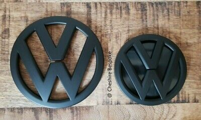 NEW VW Scirocco MK3 Matt Matte Black Front & Rear Boot Badge [Fits 2015-2018]