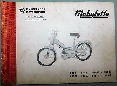 Ancien Catalogue Pieces Detachees 1974 Mobylette Motobecane Motoconfort H40/l Ts