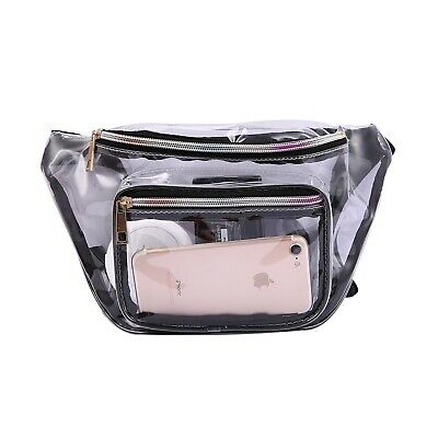 Clear Fanny Pack Men Women Waist Pouch Belt Bag Travel Sports Stadium Security