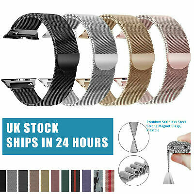 Milanese Loop Strap Watch Band For Apple Watch Series 1/2/3/4  38/40/42/44MM UK