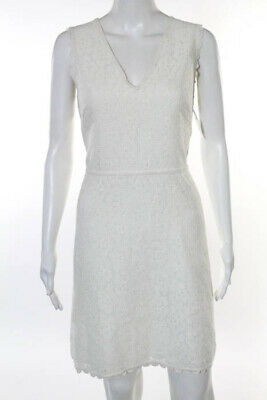 6b470effbf450c Max Studio Ivory Floral Lace Design Sleeveless Dress Size Large New  148  JG10