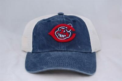 7e5b2b24504 MLB Cleveland Indians Embroidered Logo Washed Twill Mesh Cap by American  Needle