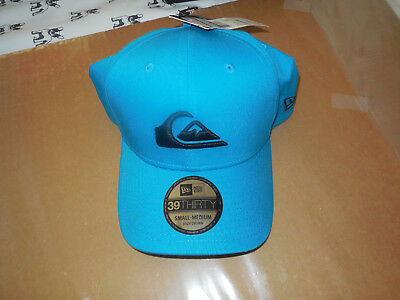 4837549645e Quiksilver New Era 39Thirty Mountain   Wave Baseball Cap Hat Small - Medium  NWT