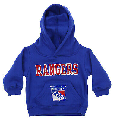 OuterStuff NHL Infant and Toddler's New York Rangers Fleece Hoodie, Blue