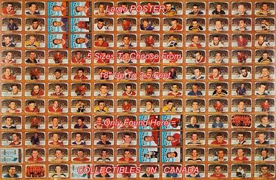 "UNCUT SHEET 1966 Bobby Orr 132 IN ALL =POSTER Not Hockey Card 5 SIZES 18""-3.5 FT"