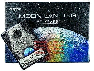 Zippo Lighter Galaxy Armor Moon Landing 50 Years 2019 COLLECTIBLE New & Boxed