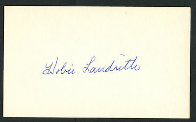 Hobie Landrith signed autograph auto 3x5 index card Baseball Player 8089-00