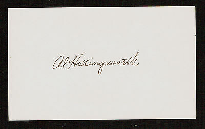Al Hollingsworth (d. 1996) signed autograph Baseball 3x5 Index Card 2080-18