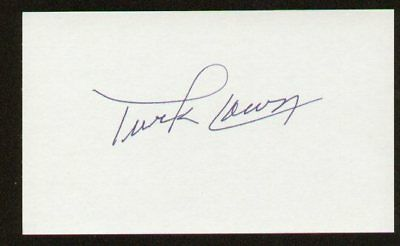 Turk Lown signed autographed 3x5 index card F2318