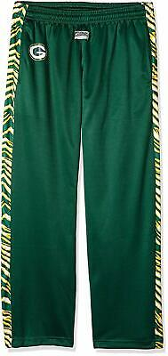 Zubaz NFL Men's Green Bay Packers Zebra Accent NFL Stadium Pants