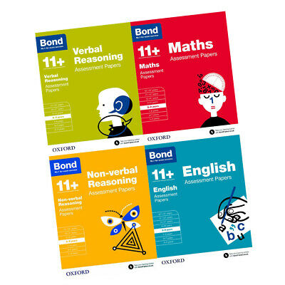 Bond 11+ Maths English Verbal Reasoning (Assessment Papers) 4 Books Set