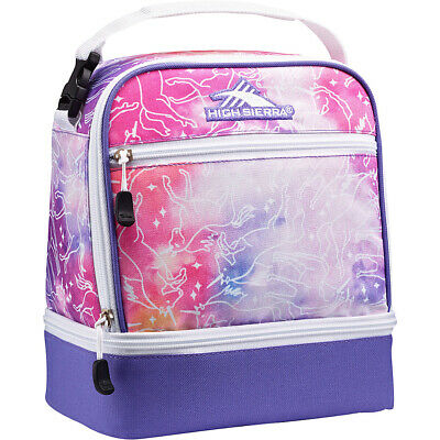 High Sierra Stacked Compartment Lunch Bag 25 Colors Travel Cooler NEW
