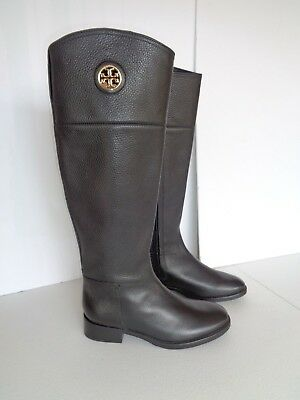 02bfa95cd9a400 New Tory Burch Women s Boots Junction Riding Black Leather   5.5 M