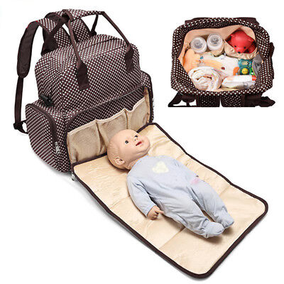 A Large Capacity Mummy Bag Baby Diaper Nappy Maternity Changing Travel Backpack