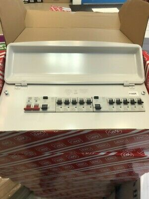HONEYWELL K7664sMet 12-Way MK Sentry Fully Populated Metal Consumer Unit - White