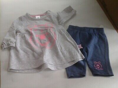 New - Disney Winnie the Pooh baby toddler girls 2 piece top and leggings set
