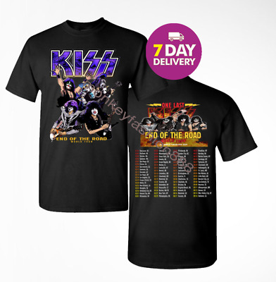 Kiss 'End of the Road' Farewell Tour Dates 2019 T-shirt tee all size