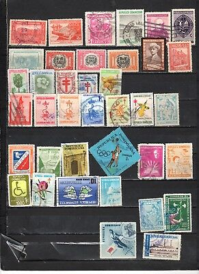 Dominican Republic - Lot Of Early Used Stamps (DR9)