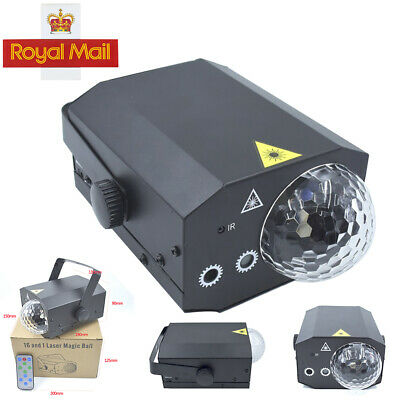 16 in 1 Sound Active Stage Lighting Laser RGB Black Club Disco Party Light LED