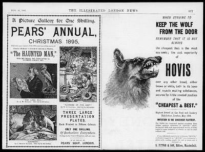 1895 Antique ADVERTISING Print - Pears Christmas Annual Hovis Bread  (57)
