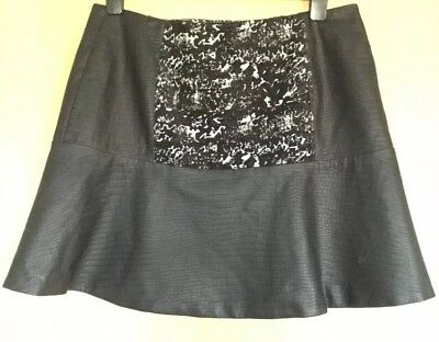 TAUPE GRAY Large FAUX LEATHER SHORTS W118 WALTER BAKER KRISTINE SHORT L women/'s