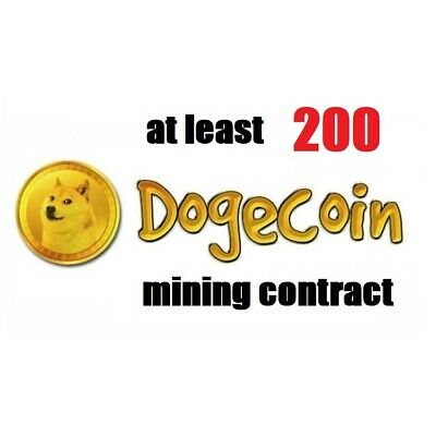 at least 200 Dogecoins 3 hours Dogecoin (DOGE) Cryptocurrency mining contract