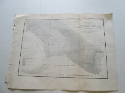 "3Rd 1855 U S Coast Survey Nautical Chart ""Land Between San Diego Colorado River"""