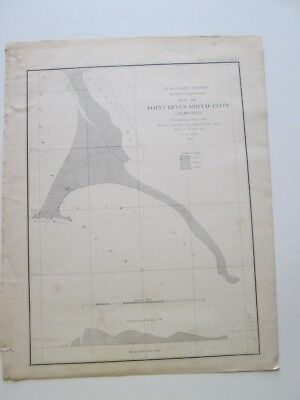 "2Nd1855 U. S. Coast Survey Nautical Chart ""Point Reyes And Vicinity,California """