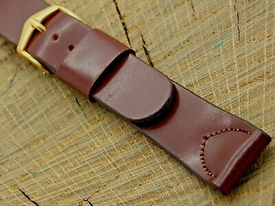 NOS Vintage Unused JB Champion Shell Cordovan Watch Band Gold Tone Buckle 17.5mm