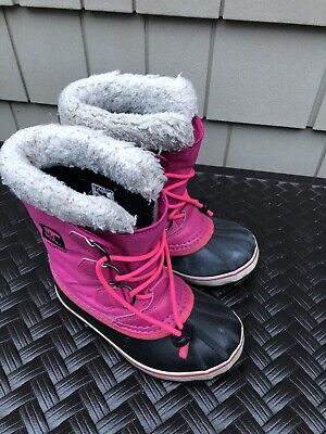 Authentic Sorel Youth Joan of Arctic NY #1858-384 Girls Winter Snow Boots Nori