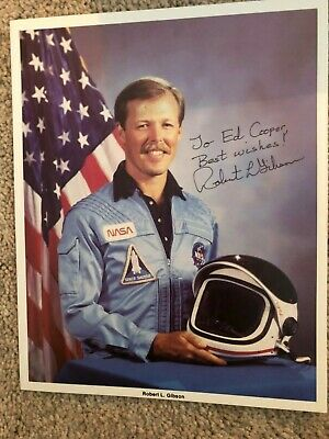 Robert Gibson Nasa Space Shuttle Astronaut Autograph Signed Litho Photo